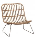 Hübsch LOUNGE Krzesło - Fotel Rattanowy