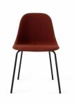 Menu HARBOUR SIDE Krzesło - Rama Czarna - Siedzisko Tapicerowane Ciemnoczerwone