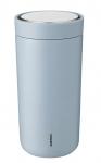 Stelton TO GO CLICK Stalowy Kubek Termiczny 400 ml Niebieski Cloud
