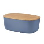 RIG-TIG by Stelton BOX-IT Chlebak - Pojemnik na Chleb z Deską Bambusową - Ciemnoniebieski