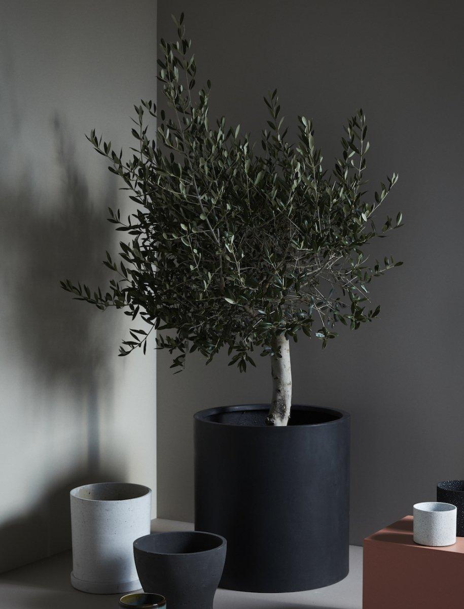 Hübsch Pot Donica Do Kwiatów Czarna Zestaw 2 Dużych Donic
