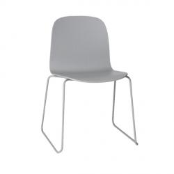 Muuto VISU SLED BASE Krzesło Drewniane na Stalowej Ramie - Szare