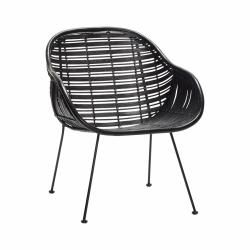 Hübsch REST Krzesło Ratanowe - Czarne