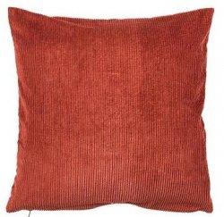 Sodahl CORDUROY Sztruksowa Poduszka Dekoracyjna 50x50 cm Czerwona Terracotta