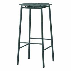 Aytm NOVO Hoker Stalowy - Krzesło Barowe 75 cm Forest Ciemnozielony