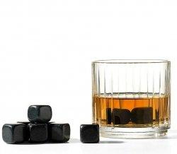 Nuance BAR Granitowe Kamienie - Kostki Chłodzące do Drinków 9 szt. Czarne