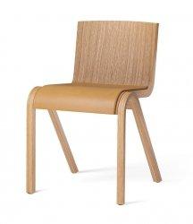 Menu READY Krzesło Drewniane Tapicerowane - Dąb Naturalny / Siedzisko Brązowa Skóra Dakar 0250