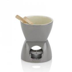 Kela LEONIA Ceramiczny Zestaw do Fondue Czekoladowego - Szary