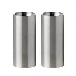 Stelton CYLINDA by Arne Jacobsen - Solniczka i Pieprzniczka