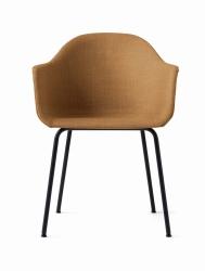 Menu HARBOUR Krzesło - Rama Czarna - Siedzisko Tapicerowane Miodowe