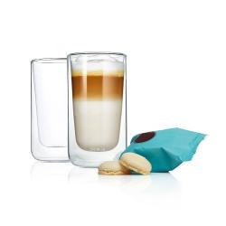 Blomus NERO Szklanki Termiczne do Kawy Latte 320 ml