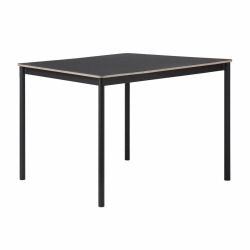 Muuto BASE Stół 140x80 cm Czarny - Blat Linoleum