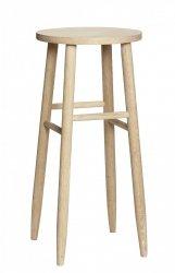 Hübsch OAK Krzesło Barowe 72 cm Hoker Dębowy - Naturalny