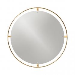 Menu NIMBUS Okrągłe Lustro Ścienne 110 cm Rama Mosiądz Polerowany - Odcień Złoty