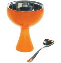 A di Alessi BIG LOVE Pucharek do Lodów z Łyżeczką - Pomarańczowy