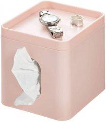 iDesign BOX Pojemnik na Chusteczki - Różowy Matowy