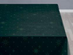 Sodahl CHRISTMAS STELLA Obrus Świąteczny na Stół 140x220 cm Ciemnozielony