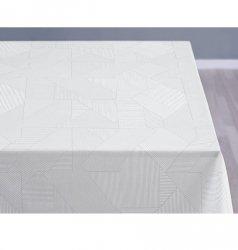Sodahl COMPLEX DAMASK Obrus na Stół 140x370 cm Biały - Optical White
