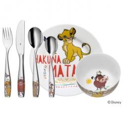 WMF Zestaw dla Dzieci - Sztućce + Porcelana 6 El. - Król Lew