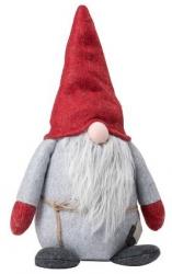 Sodahl CHRISTMAS Świąteczny Elf Dekoracyjny 28 cm Szaro-Czerwony
