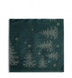 Sodahl CHRISTMAS Papierowe Serwetki Winterland - Zielone