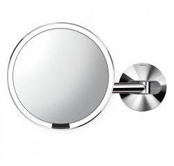 Simplehuman SENSOR Powiększające Lustro Sensorowe Bezprzewodowe - Do Makijażu - Ścienne - Srebrne Polerowane