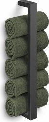 Zack LINEA BLACK Uchwyt Ścienny na Ręczniki - Czarny