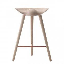 by Lassen ML42 Krzesło Barowe -- Hoker 69 cm Dębowy / Poprzeczka Miedziana