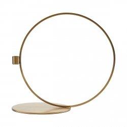 House Doctor CIRQUE Świecznik Stojący Okrągły 33 cm Złoty