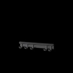 Muuto COIL Listwa - Wieszak Ścienny na Ubrania 60 cm Czarny
