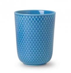 Lyngby Porcelain RHOMBE COLOR Kubek bez Ucha 330 ml Niebieski