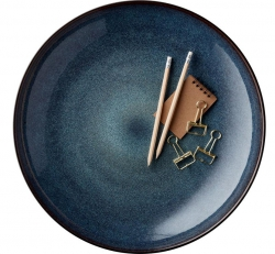 Bitz BLACK Patera 40 cm Czarna - Niebieski Środek