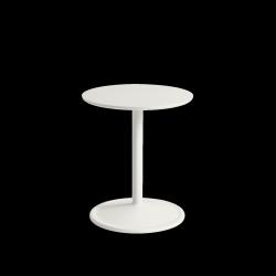 Muuto SOFT SIDE Stolik Okrągły 48 cm Biały / Blat 41 cm Linoleum