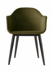 Menu HARBOUR Krzesło - Rama Czarny Dąb - Siedzisko Tapicerowane Zielone