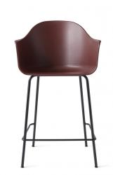 Menu HARBOUR Krzesło Barowe 102 cm Hoker Czarny - Siedzisko Bordowe