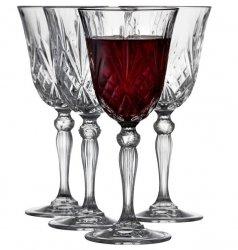 Lyngby Glass MELODIA Kryształowe Kieliszki do Czerwonego Wina 270 ml 4 Szt.