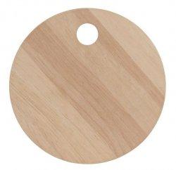 A Simple Mess NATURE Deska z Drewna Kauczukowego 30 cm do Krojenia lub Serwowania