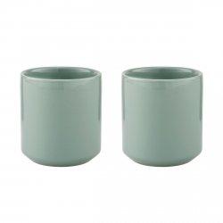 Stelton CORE Porcelanowy Kubek Termiczny 0,2 l - Dusty Green 2 Szt.