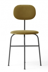 Menu AFTEROOM Krzesło Czarne Tapicerowane - Tkanina City Velvet CA 7832/060