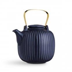 Kähler HAMMERSHØJ Dzbanek do Herbaty 1,2 l Granatowy