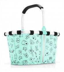 Reisenthel KIDS CATS AND DOG Koszyk Carrybag XS dla Dzieci - Miętowy