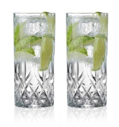 Lyngby Glass MELODIA Kryształowe Szklanki Long Drink 360 ml 6 Szt.