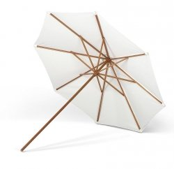 Skagerak MESSINA Parasol Ogrodowy 300 cm Okrągły - Drewno Meranti