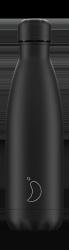 Chilly's MONOCHROME Stalowa Butelka Termiczna 500 ml Cała Czarna