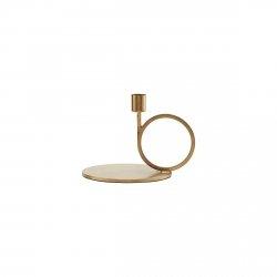 House Doctor CIRQUE Świecznik Stojący Okrągły 13 cm Złoty