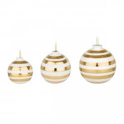 Kähler OMAGGIO CHRISTMAS Ceramiczne Bombki 3 Szt. Złote