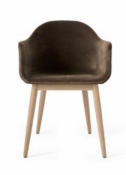 Menu HARBOUR Krzesło - Rama Dąb Naturalny - Siedzisko Tapicerowane Brązowe