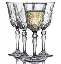 Lyngby Glass MELODIA Kryształowe Kieliszki do Wina 210 ml 4 Szt.
