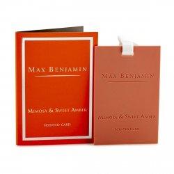 Max Benjamin CLASSIC Zawieszka - Karta Zapachowa - Mimosa & Sweet Amber