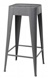 Broste Copenhagen DARYLL Krzesło Barowe 65 cm Hoker - Smoked Pearl